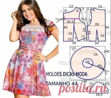 Моделирование летних платьев, не очень сложных в пошиве — Сделай сам, идеи для творчества - DIY Ideas