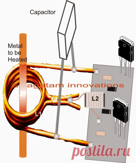 2 простых контура индукционного нагревателя - плиты с подогревом | Самодельные Цепные Проекты