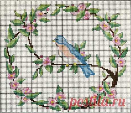 Вышивка: птички — DIYIdeas