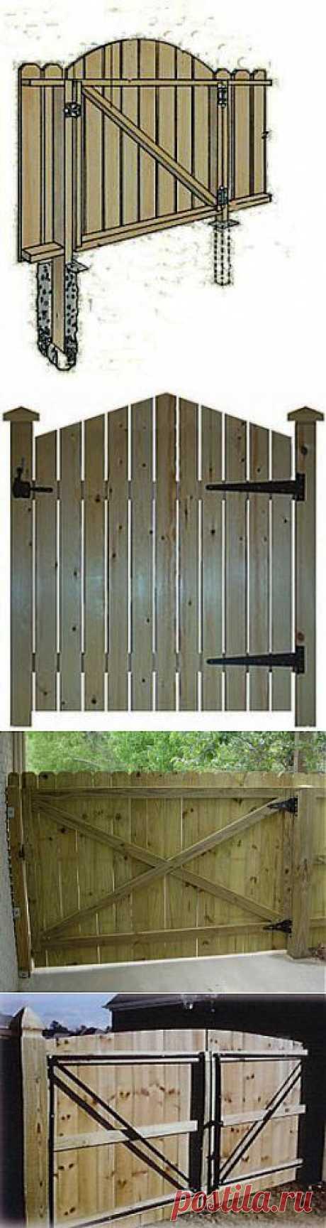 Как сделать деревянные ворота своими руками | Из дерева своими руками:поделки, мебель, мастер-классы