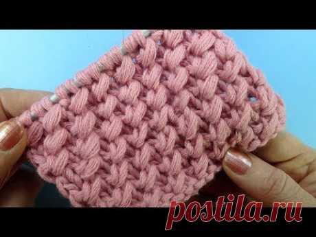 Диагональные Галочки Узор для шапки вязание на спицах Knitting pattern  42