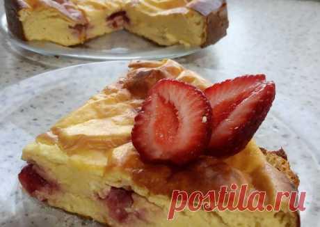 (8) Творожная запеканка с клубникой - пошаговый рецепт с фото. Автор рецепта Вика Виктория . - Cookpad