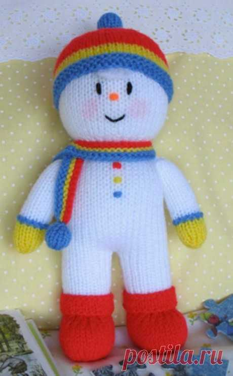 Снеговик спицами, подборка из 24 игрушек с описанием, видео уроками , Вязаные игрушки