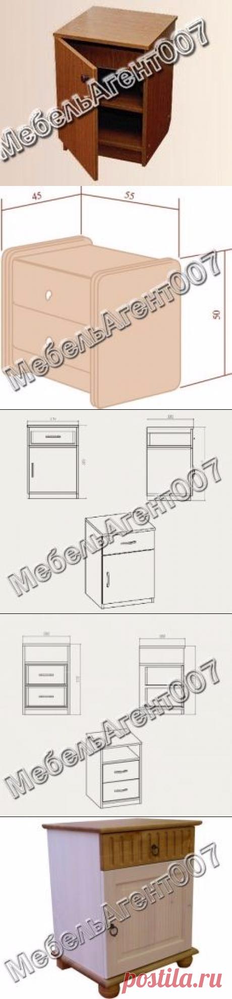 Как самому сделать оригинальную прикроватную тумбочку – методика, схемы и чертежи (Как сделать мебель самому)