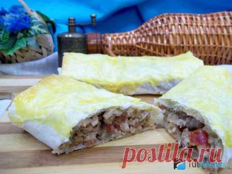 Курица в лаваше запеченная в духовке: рецепт с фото
