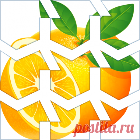 Разрезная картинка пазл Апельсин