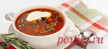 Солянка с колбасой - упрощенный рецепт сытного блюда