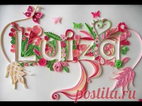 Quilling Typography Tutorial