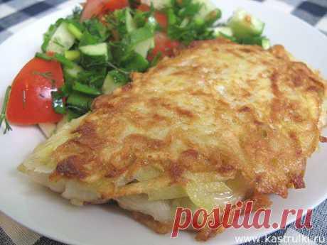 Рыба в картофельной корочке.
