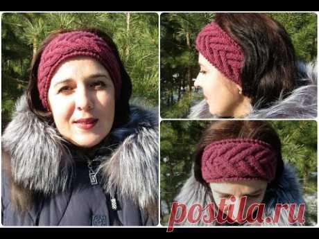 "Bandage on the head spokes a pattern ""Колосок"" (+ VIDEO) - Zateyka.com.ua - recipes of tasty desserts, lessons of knitting of the scheme, folk applied art"