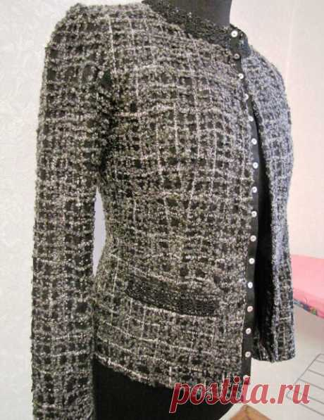 Way of production of kreyzi-fabric for creation of a jacket - Chanel. Master class Author: Imidg