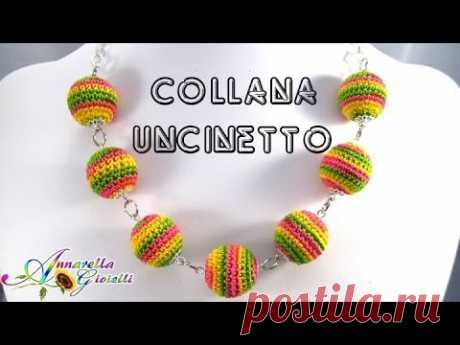 Tutorial collana estiva uncinetto | How to crochet a necklace