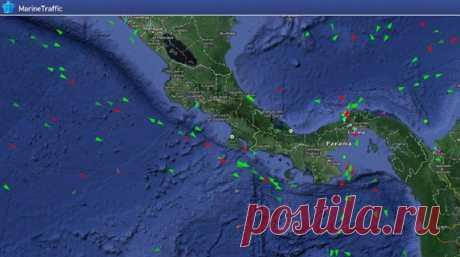 Куда и откуда плывут морские суда – за их перемещением можно следить в реальном времени.