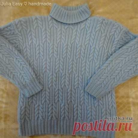 Пуловер спицами. Более 40 схем вязания пуловеров для женщин и мужчин спицами