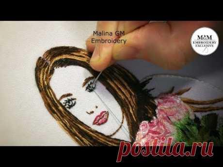 Hand Embroidery  How to embroider your photo   Как вышить свое фото