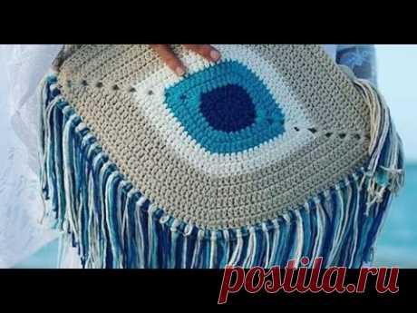 Большие и вместительные пляжные сумки крючком - идеи для вязания и вдохновения - YouTube