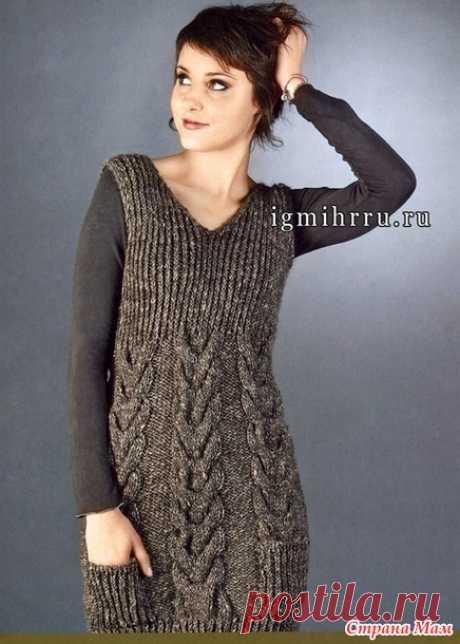 Мини-платье с косами - Вязание - Страна Мам