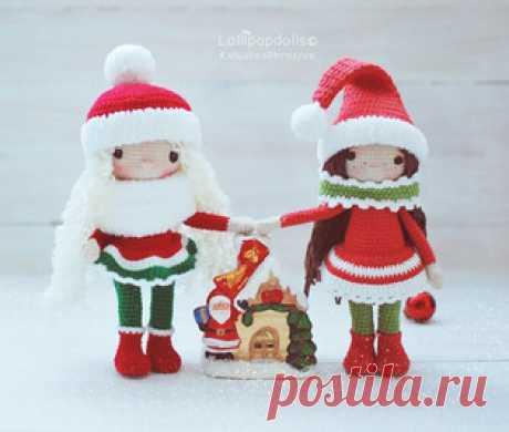 Снежные девчонки амигуруми. Схемы и описания для вязания игрушек крючком! Бесплатный мастер-класс от Катюши Морозовой по вязанию снежных девчонок крючком. Из описания схемы вы также узнаете как связать новогоднюю шапочку и с…