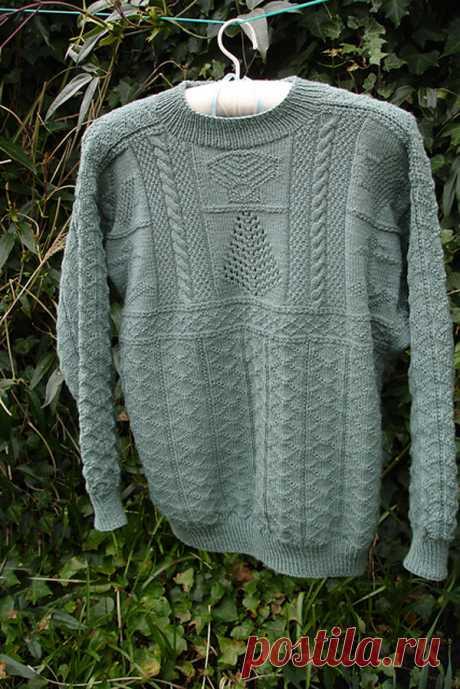 Ганзейский рыбацкий свитер: история возникновения и особенности вязания | Журнал Ярмарки Мастеров