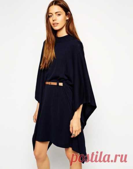 Платье - кейп с поясом. Простая выкройка