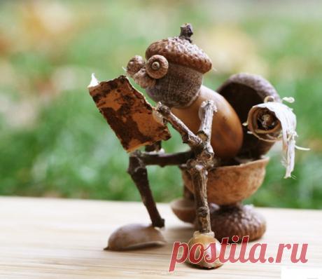 Просто смешно. 20 поделок из желудей   Древология   Яндекс Дзен