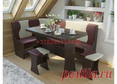 Кухонный уголок Титул-2 (дуб венге/кожзам бордо, какао): купить в Минске недорого, низкие цены, скидки, рассрочка