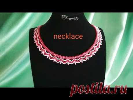 Necklace: tutorial. Колье из бисера и супердуо. МК