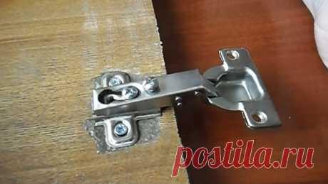 Как отремонтировать вырванную мебельную дверцу из ДСП и МДФ