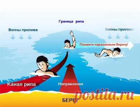 Правила безопасности на море или что надо знать о морском течении
