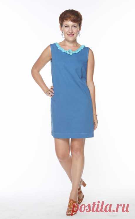 Как сшить синее платье из белого хлопка — Мастер-классы на BurdaStyle.ru