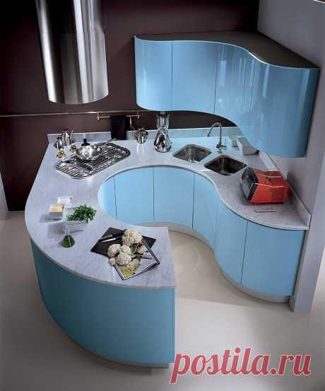 Кухня необычной формы