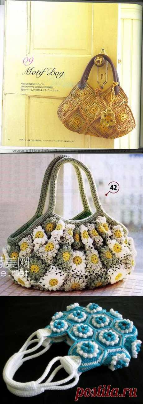 Связать сумки по схеме..