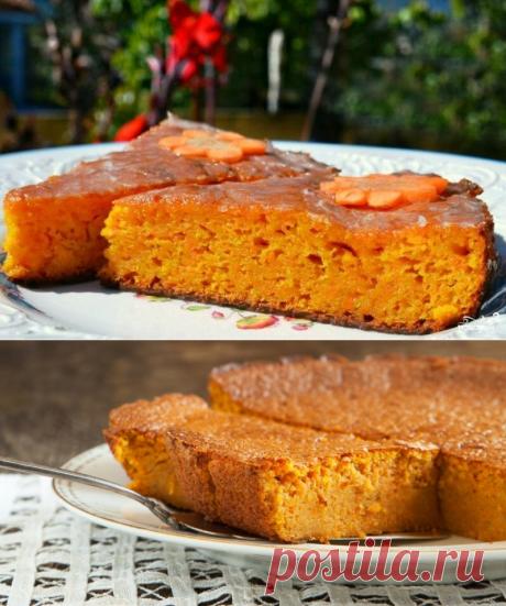 Ленивый морковно-лимонный пирог без муки и яиц | sm-news.ru
