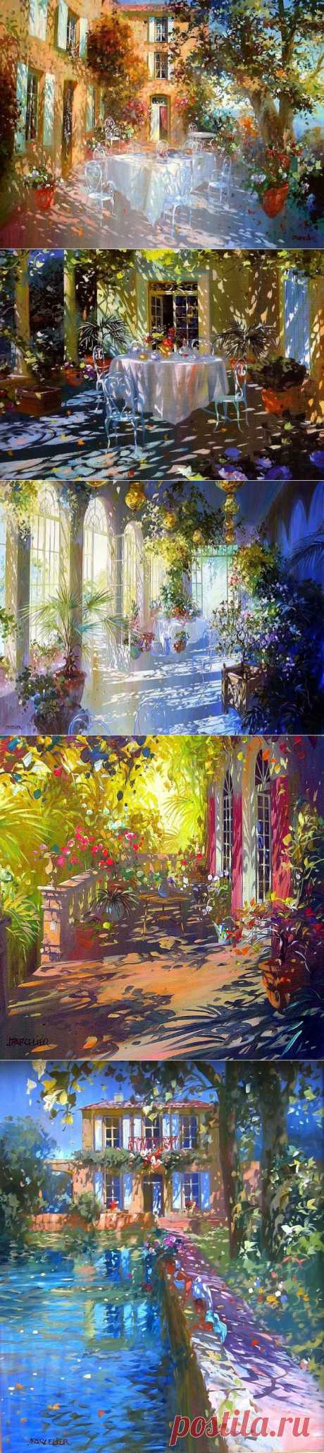 Французский художник Laurent Parcelier. Картины, написанные солнечными зайчиками..