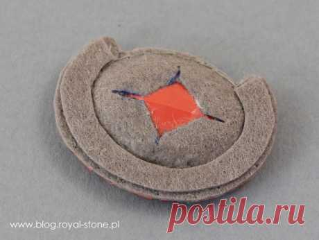 Volcano - broszka z kryształem Oval Swarovski | Royal-Stone blog