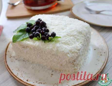 """Торт """"Молочная девочка"""" на сгущенке – кулинарный рецепт"""
