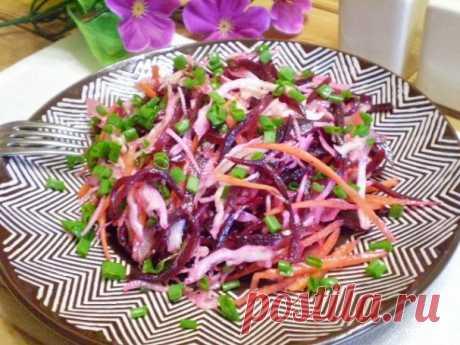 """Салат """"Цветной"""" - пошаговый рецепт с фото на Повар.ру"""