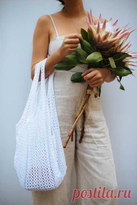 """Кружевная сумка """"майка"""" (выкройка и мк) Модная одежда и дизайн интерьера своими руками"""