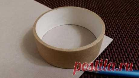 Создаем шкатулку для колец из бобины от скотча