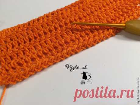 Как обработать крючком края вязаного изделия - Ярмарка Мастеров - ручная работа, handmade