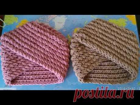 Видео-обзор 2 шапочек, связанных из 100% мериносовой шерсти разных сложений.