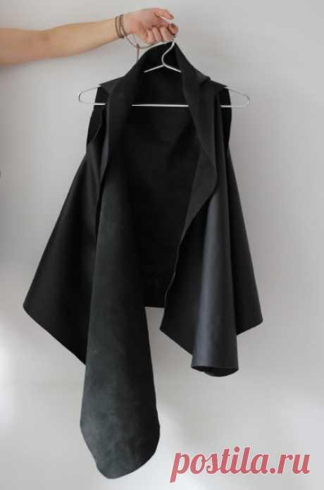 Жилет из кожи Модная одежда и дизайн интерьера своими руками
