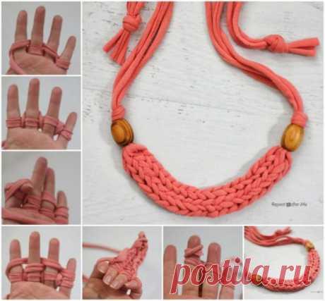 Палец Вязание Учебнике Ожерелье Супер Легкий | На WHOot