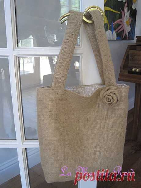 Самые летние сумки из мешковины