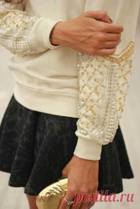 Декор одежды бисером и бусинами | Калейдоскоп Рукоделия