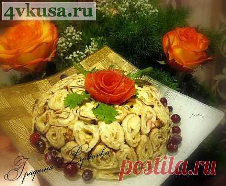 """Салат """"Шарлотка""""   4vkusa.ru"""