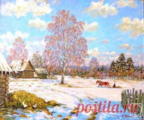 «Зима уходит» картина Мелькова Юрия маслом на холсте — купить на ArtNow.ru
