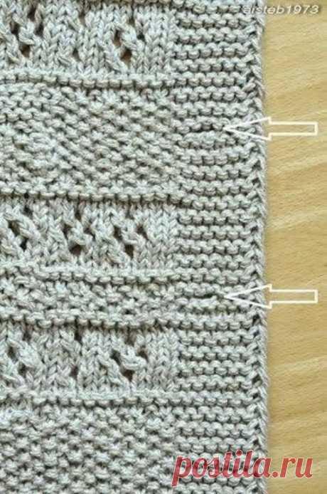 Невидимая петля для больших пуговиц  Часто в вязаных застегиваемых изделиях петлю для пуговицы вяжем очень просто: две петли вместе и накид. Такая петля для пуговиц получается очень аккуратная, маленькая и невидимая. Но для такой петли и пуговицы должны быть небольшие. Что делать, когда пуговицы гораздо больше, планка - шире, а само изделие - пальто, большой свободный кардиган или большие пуговицы определены самим дизайном, а в то же самое время хочется, чтобы петли для пу...