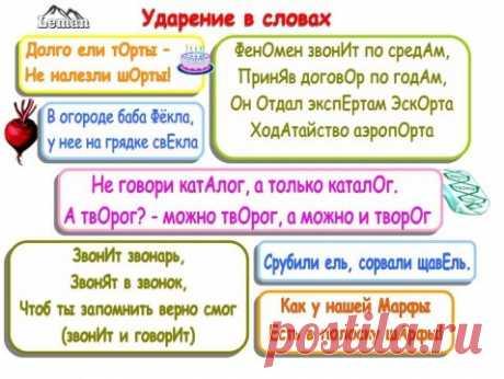 Как запомнить ударения в словах | Русский язык онлайн