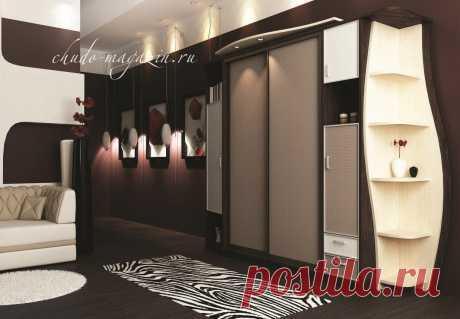 Шкаф купе с приставными распашными модулями и угловым терминалом Ш-119. В интернет-магазин Chudo-magazin.ru в Москве.